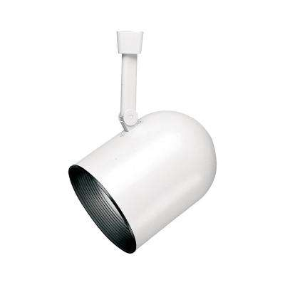 White Body Lazer Large Roundback Cylinder Track Lighting Head with Black Baffle
