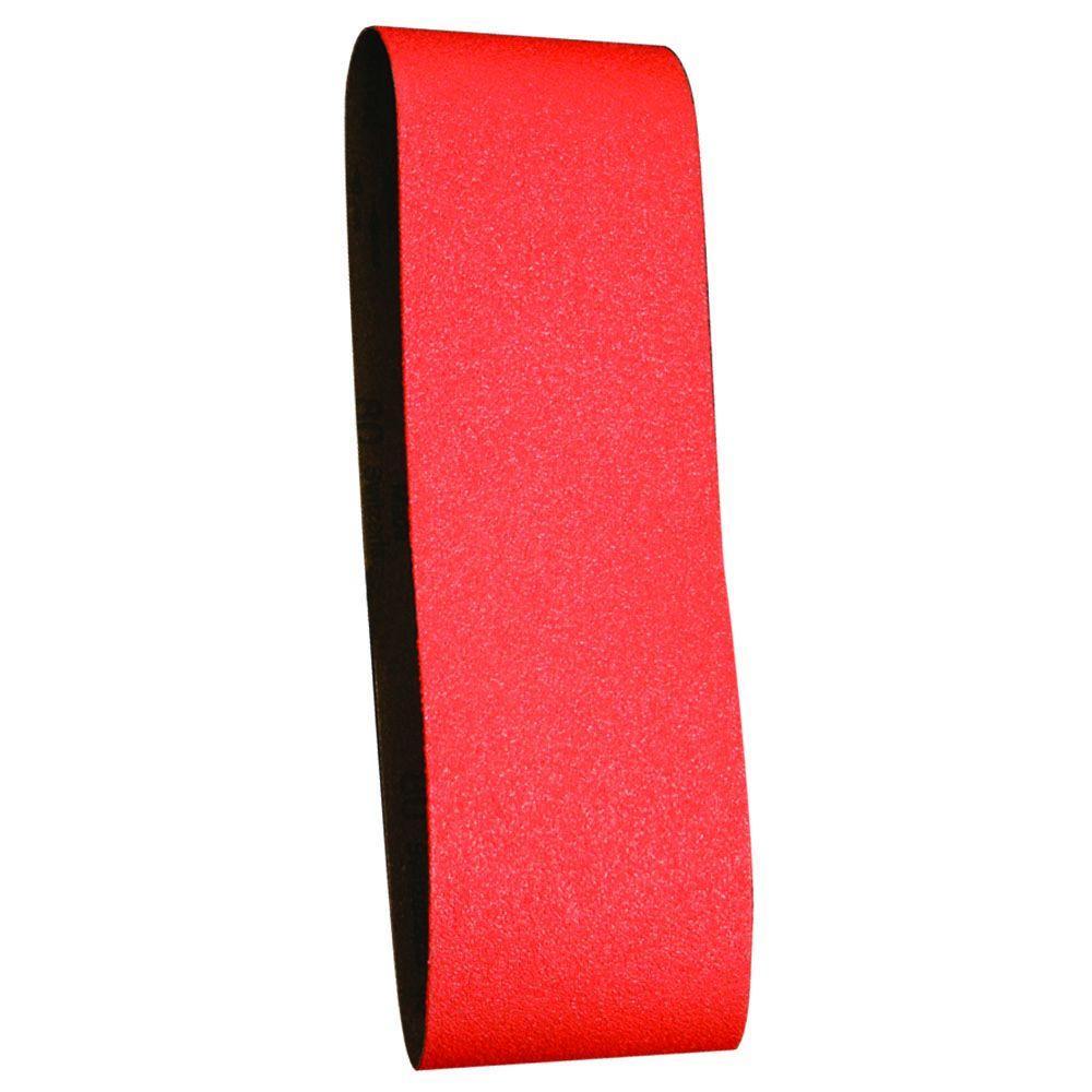 4 in. x 24 in. 80-Grit Sanding Belt (2-Pack)