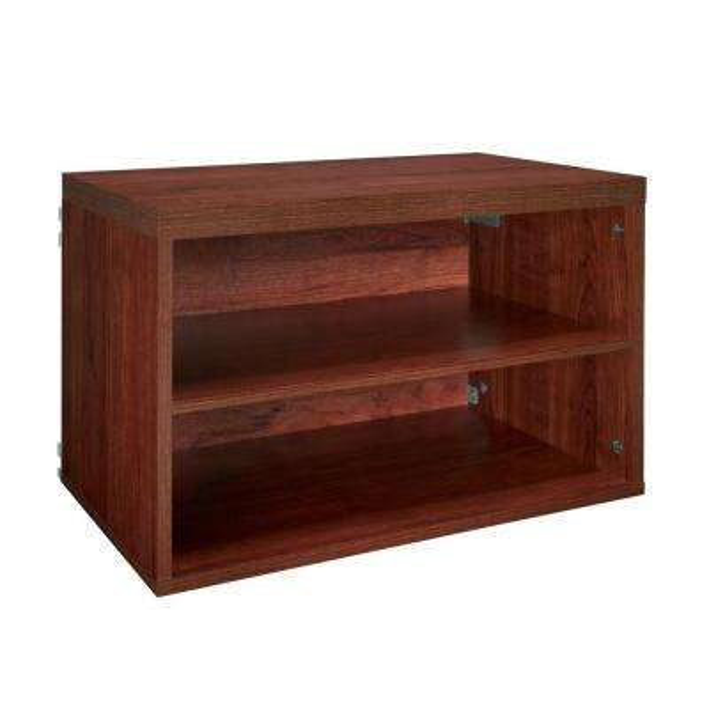 Elite 23.6 in. x 14.67 in. 2-Cube Shelf Organizer in Dark Cherry