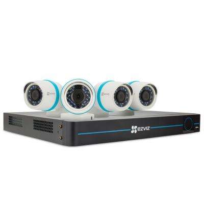 8-Channel 1080p NVR 2TB Hard Drive Surveillance System with 100 ft. Night Vision and Works with Alexa using IFTTT