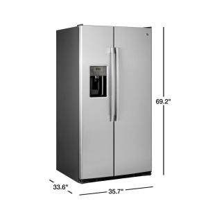 GE Adora 25 3 cu  ft  Side by Side Refrigerator in Stainless Steel, ENERGY  STAR