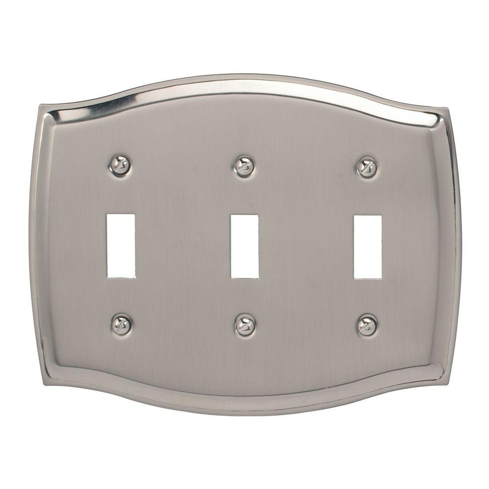 Sonoma 1 Toggle Wall Plate - Satin Nickel