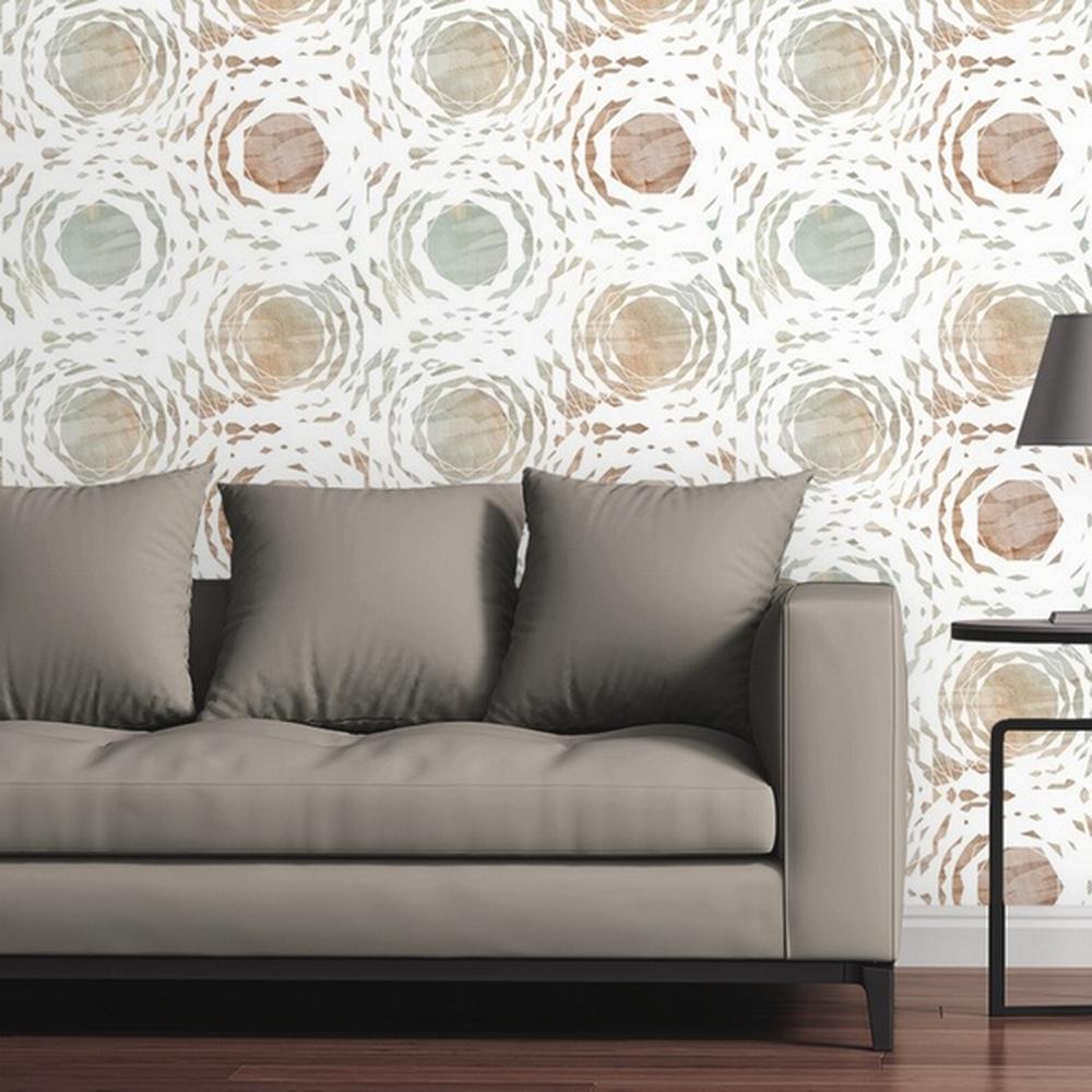 Broken Circles Light by Circle Art Group Removable Wallpaper Panel