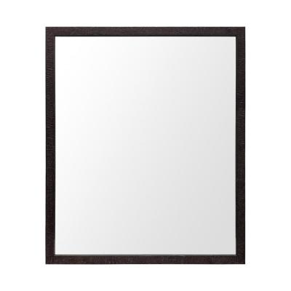 Medium Rectangle Espresso Modern Mirror (25.5 in. H x 21.5 in. W)