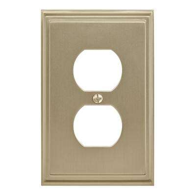 Mulholland 1 Receptacle Golden Champagne Wall Plate