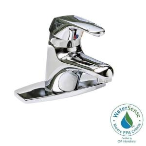 seva single hole single handle lowarc bathroom faucet in polished chrome with speed connect