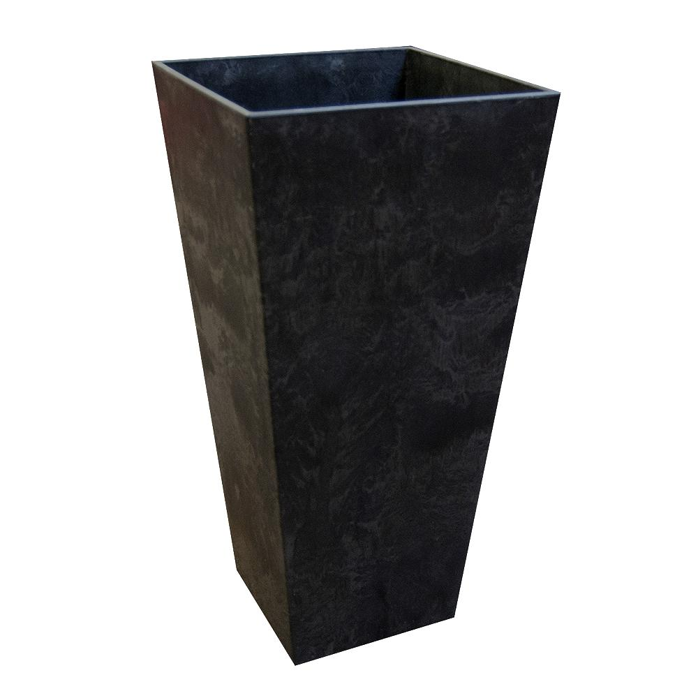 Tierra Verde 14 in  x 27 5 in  Slate Rubber Self Watering Planter