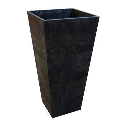 14 in. x 27.5 in. Slate Rubber Self Watering Planter