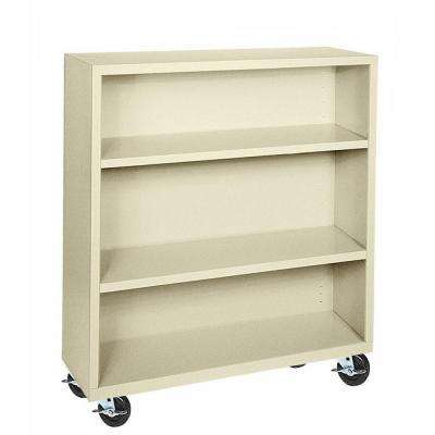 Elite Putty Mobile Steel Bookcase