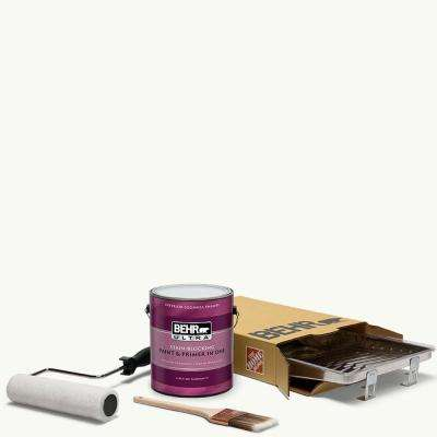 1 gal. #PPU18-06 Ultra Pure White Ultra Eggshell Enamel Interior Paint and 5-Piece Wooster Set All-in-One Project Kit