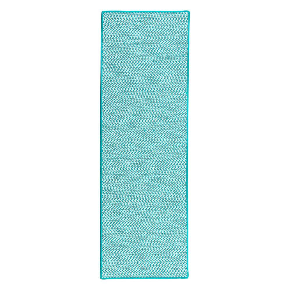 Home Decorators Collection Sadie Turquoise 2 ft. x 10 ft. Indoor/Outdoor Braided Runner Rug