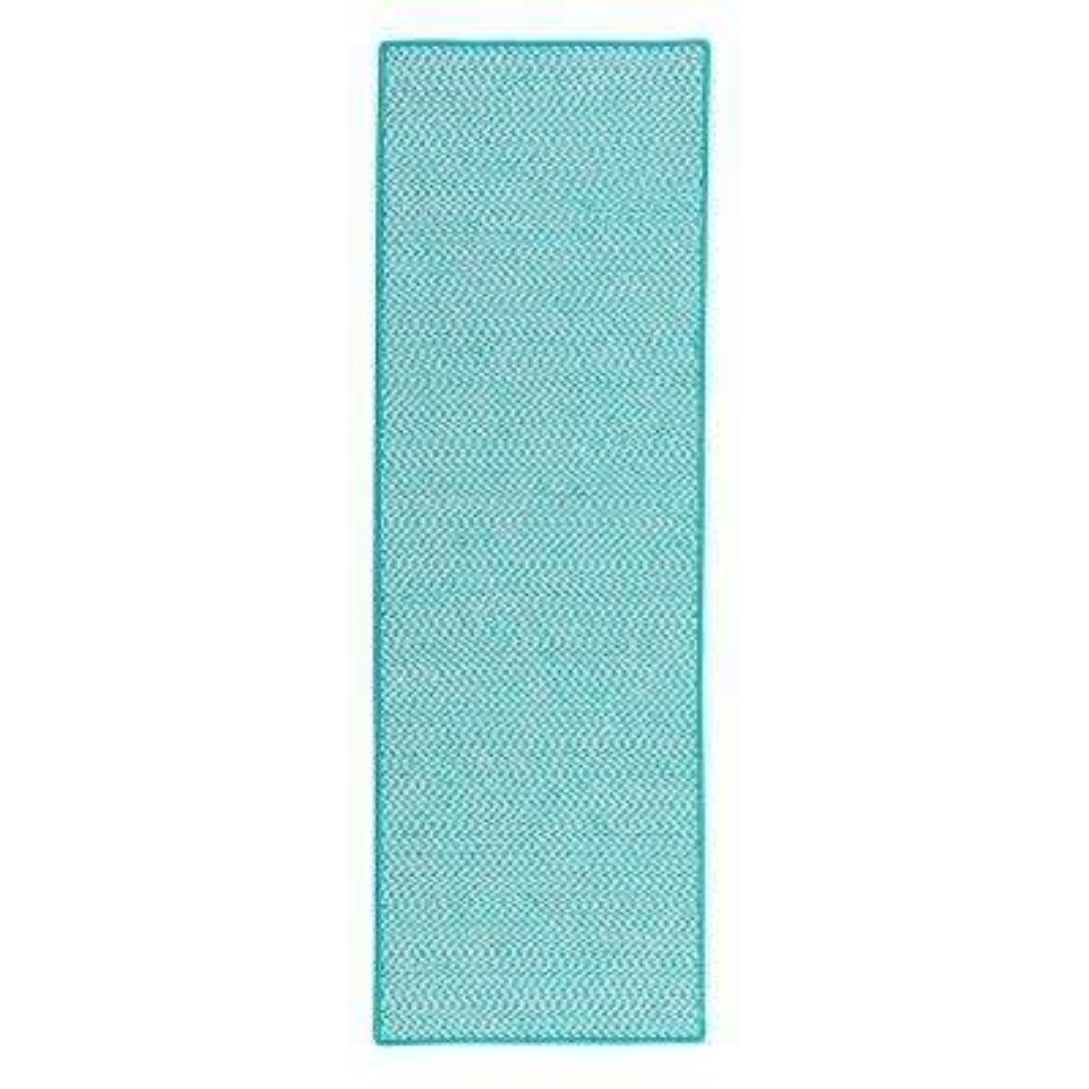 Sadie Turquoise 2 ft. x 10 ft. Indoor/Outdoor Braided Runner Rug