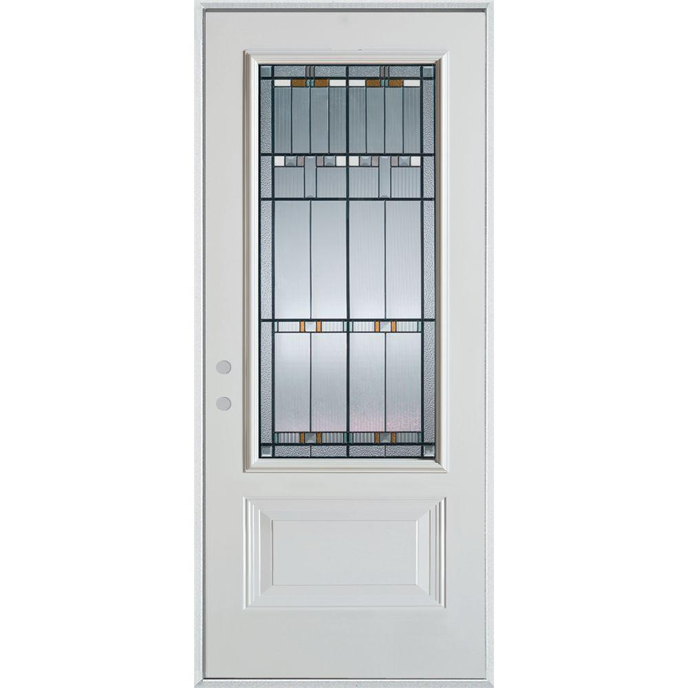 primer for steel entry door. stanley doors 33.375 in. x 82.375 architectural 3/4 lite 1- primer for steel entry door r