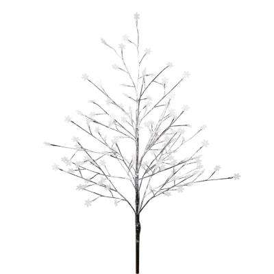 55 in. Frosty Christmas Snowflake Tree with Cool White LED Lights