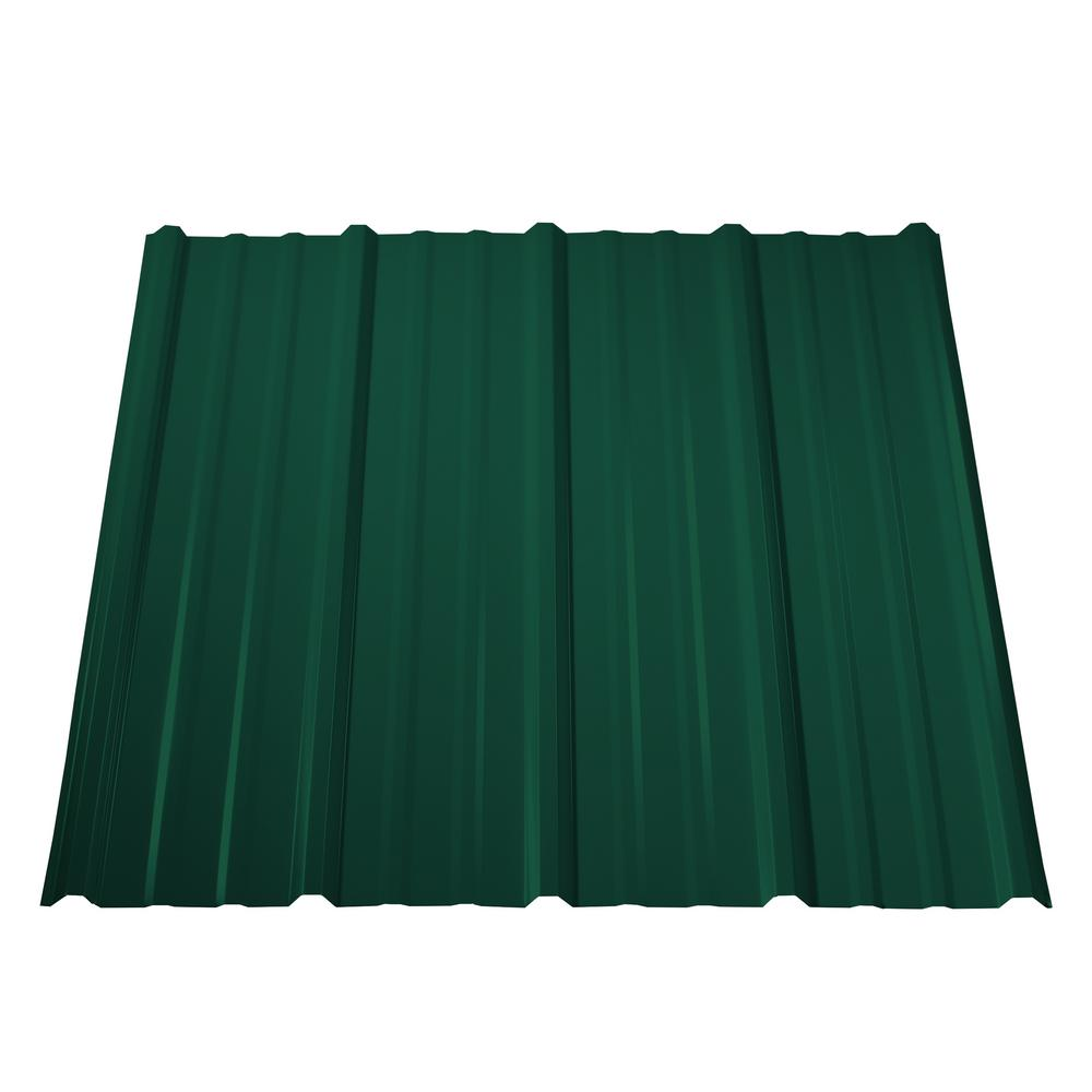 8 ft. Pro Panel II Steel Roof Panel in Forest Green