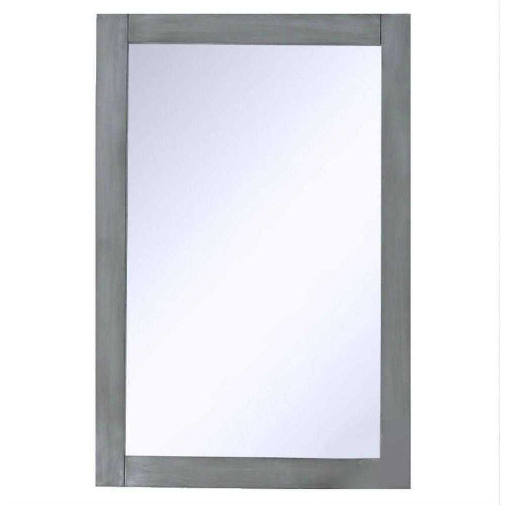 20 in. x 30 in. Framed Wall Mirror in Silver Gray