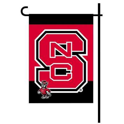 NCAA 13 in. x 18 in. NC State 2-Sided Garden Flag Set with 4 ft. Metal Flag Stand