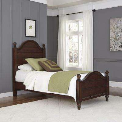 County Comfort Aged Bourbon Twin Bed Frame