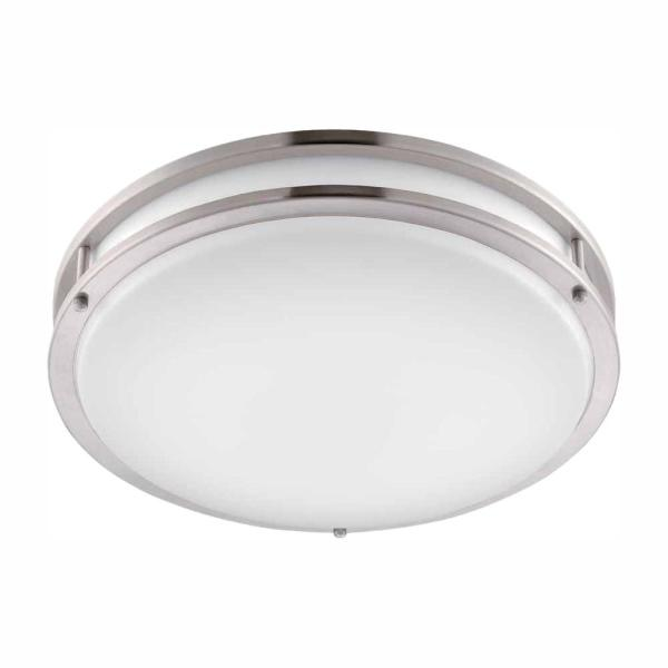 Brushed Nickel LED Round Flush Mount