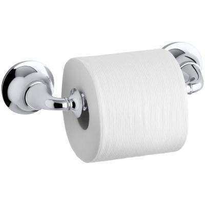 Forte Traditional Wall-Mount Single Post Toilet Paper Holder in Polished Chrome