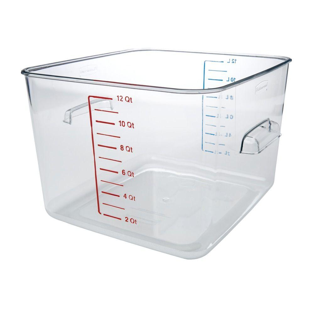 Rubbermaid Commercial Products Space Saving Clear Square Container