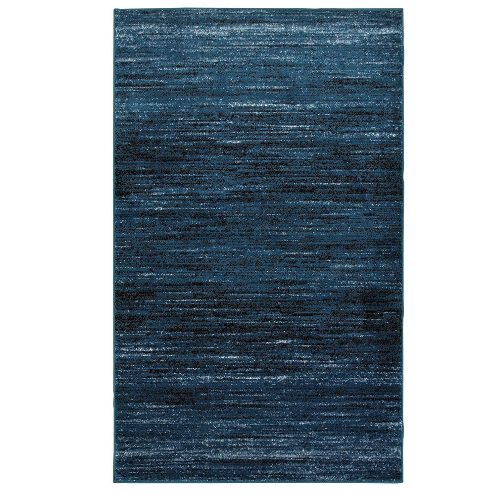 Matrix Soft Blue/Black Rectangle 7 ft. 9 in. x 9 ft. 5 in. Indoor Area Rug
