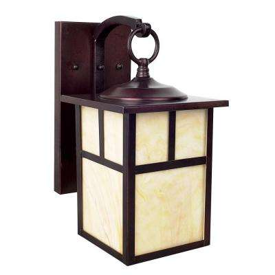 Craftsman 1-Light Rubbed Bronze Outdoor Lantern