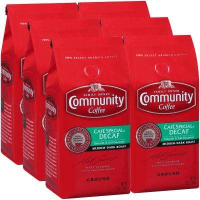 12 oz. Cafe Special Decaf Medium-Dark Roast Premium Ground Coffee (6-Pack)