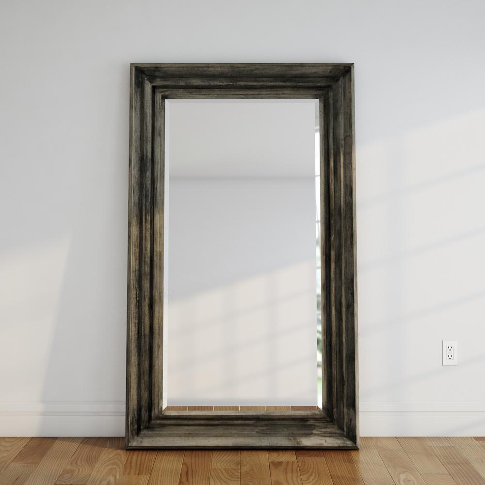 Dewitt 74 in. x 44 in. Rectangular Wood Framed Mirror