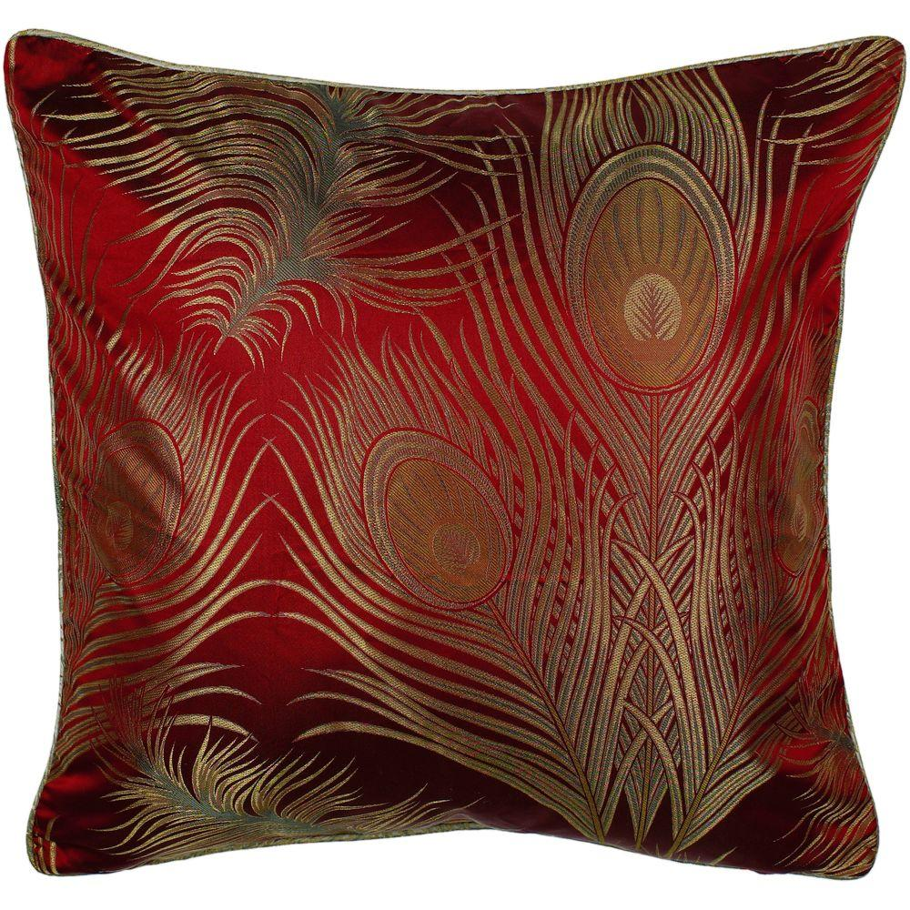Artistic Weavers Peacock1 18 in. x 18 in. Decorative Pillow-DISCONTINUED