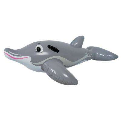 Adventurous Dolphin Ride-on Pool Float - Novelty Inflatable Water Toy