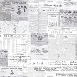 Beacon House Gazette Khaki Vintage Newsprint Wallpaper
