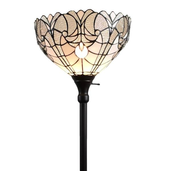 72 in. Tiffany Style Torchiere Floor Lamp