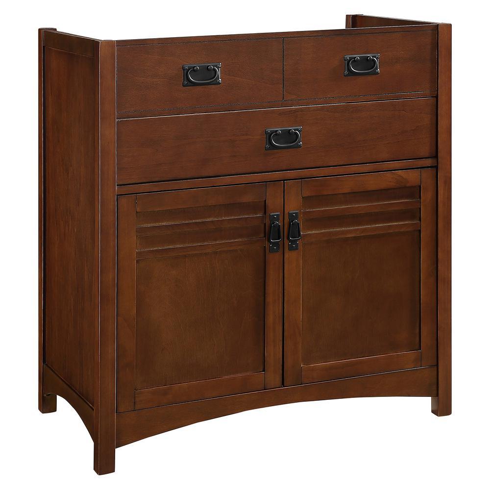 36 in. W x 21 in. D Vanity Cabinet Only in Walnut