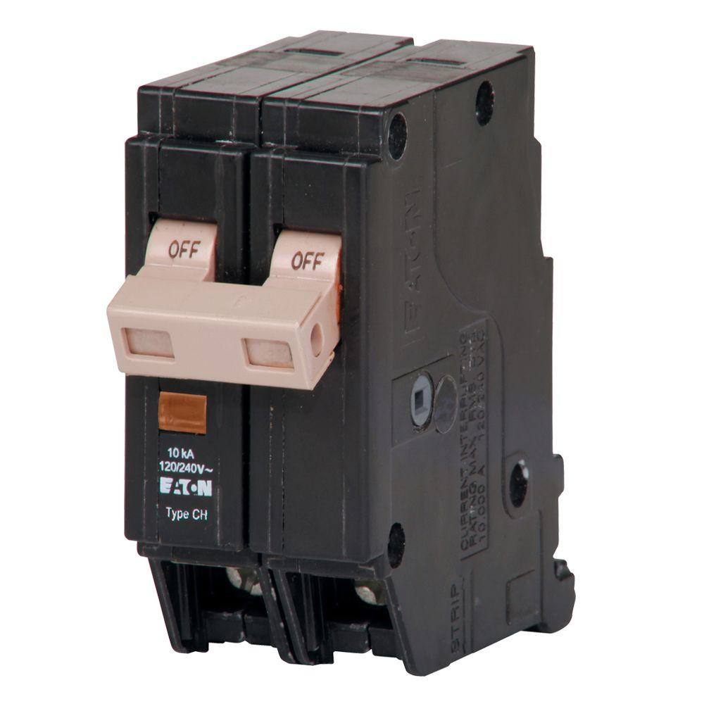 Eaton CH 50 Amp 2-Pole Circuit Breaker with Trip Flag-CHF250 - The ...