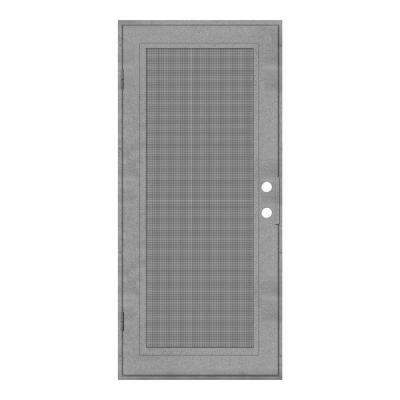 30 in. x 80 in. Full View Silverado Left-Hand Surface Mount Security Door with Meshtec Screen