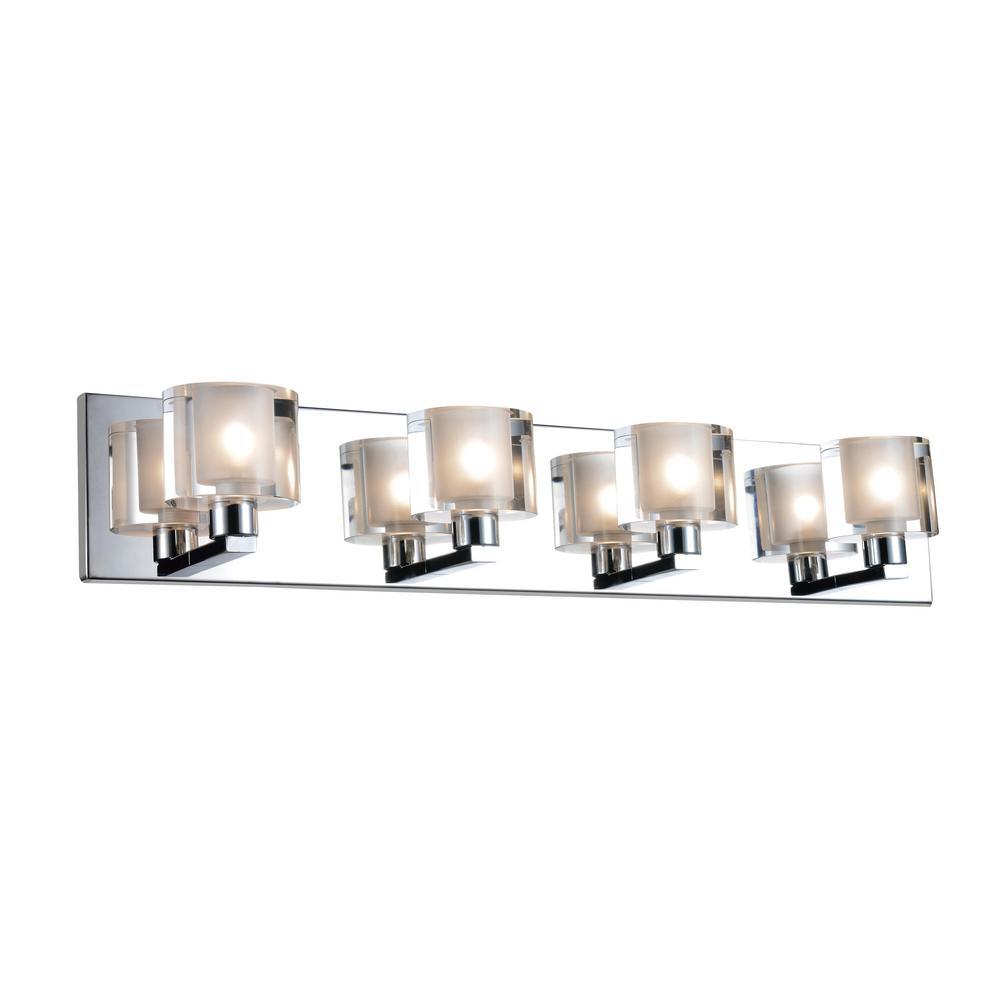 CWI Lighting Tina 4-Light Satin Nickel Sconce