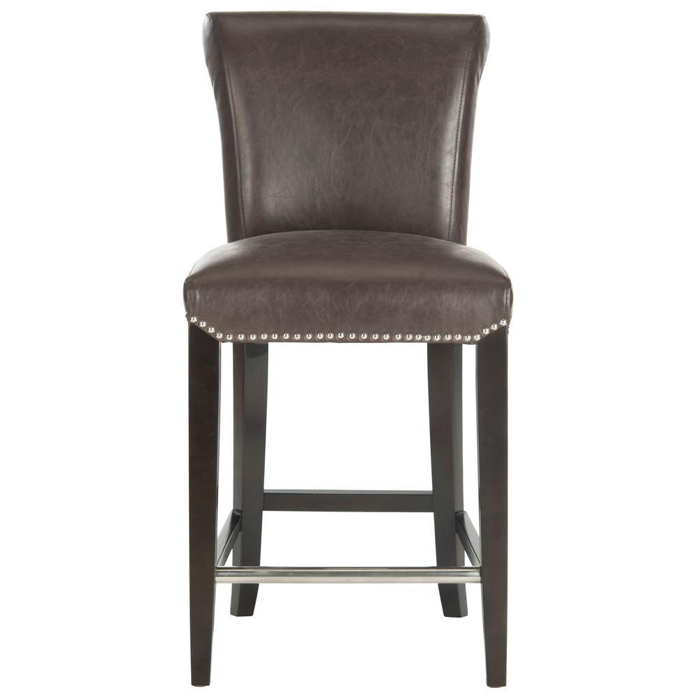 Phenomenal Safavieh Seth 25 9 In Antique Brown Cushioned Bar Stool Bralicious Painted Fabric Chair Ideas Braliciousco