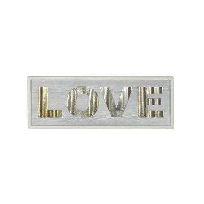 Love Large White Rustic Wood Sign