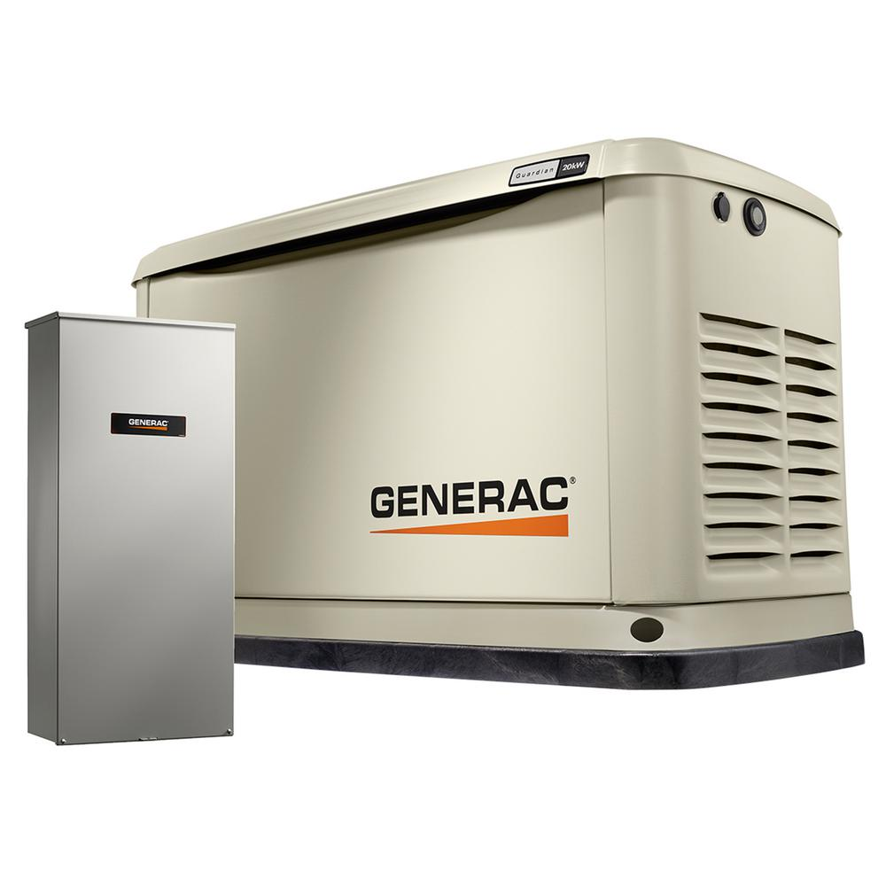 Generac 20,000-Watt (LP)/18,000-Watt (NG) Air Cooled Stan...