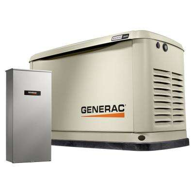 20,000-Watt (LP)/18,000-Watt (NG) Air Cooled Standby Generator with Whole House 200 Amp Automatic Transfer Switch