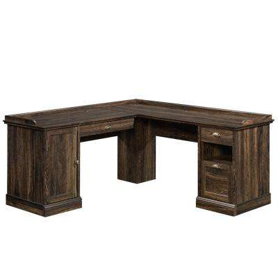 Barrister Lane Iron Oak L-Shaped Desk