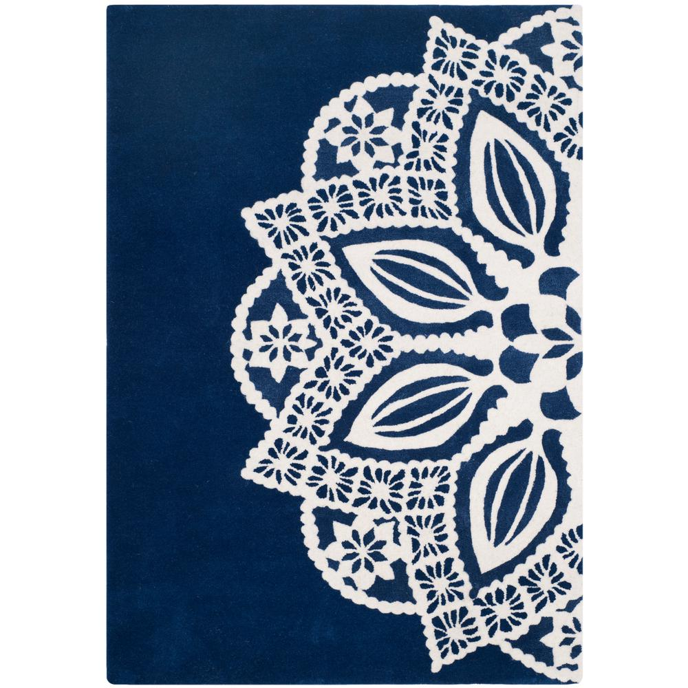 Allure Navy/Ivory 5 ft. x 8 ft. Area Rug
