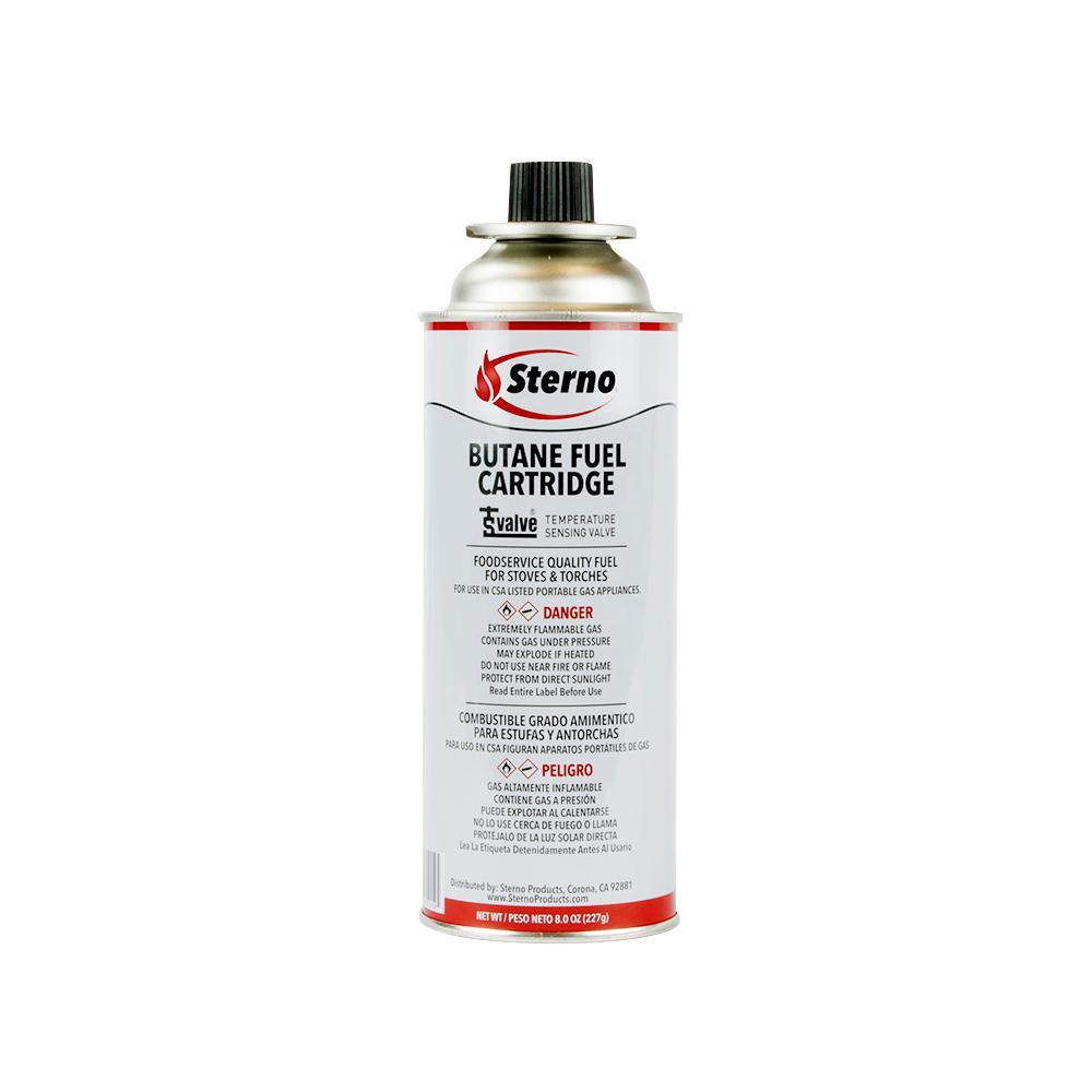 8 oz. Butane Fuel Cartridge with Temperature Sensing Valve, (12-Pack)