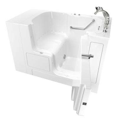 Gelcoat Value Series 52 in. x 30 in. Right Hand Walk-In Air Bathtub with Outward Opening Door in White