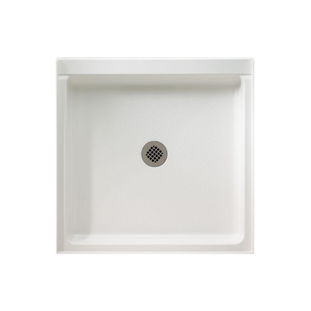 Swan Veritek 36 In X Single Threshold Shower Pan White