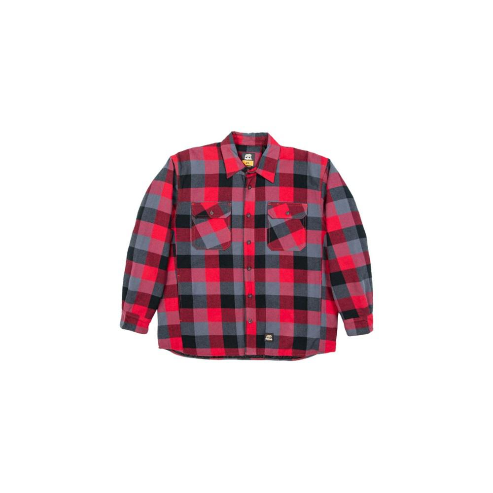 1359c318 Berne Men's Medium Tall Plaid Red 100% Cotton Yarn-Dyed Flannel Shirt