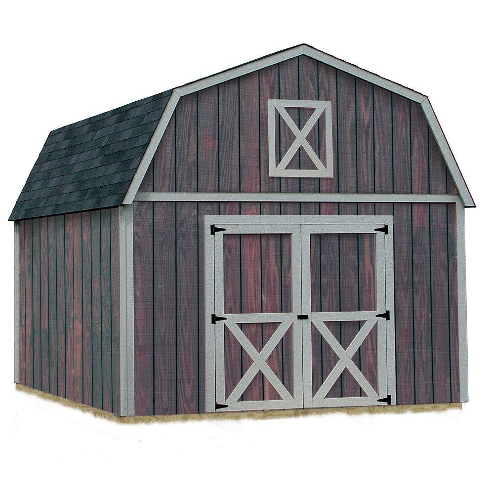 Denver 12 ft. x 16 ft. Wood Storage Shed Kit