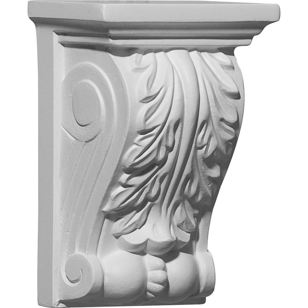 3-7/8 in. x 2-3/4 in. x 5-7/8 in. Polyurethane Legacy Acanthus
