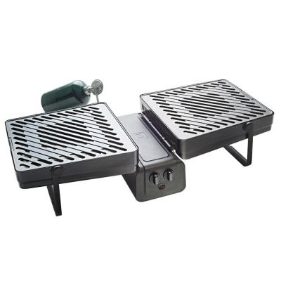 286 sq. in. 2-Burner Portable Propane Gas Grill in Black